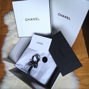 Chanel gift box ribbon and charm